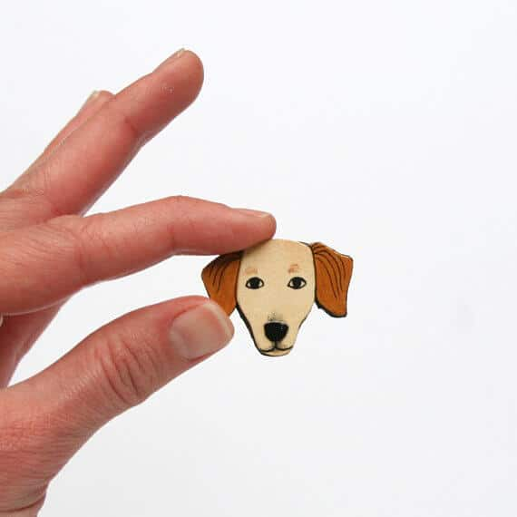 A custom pet magnet.