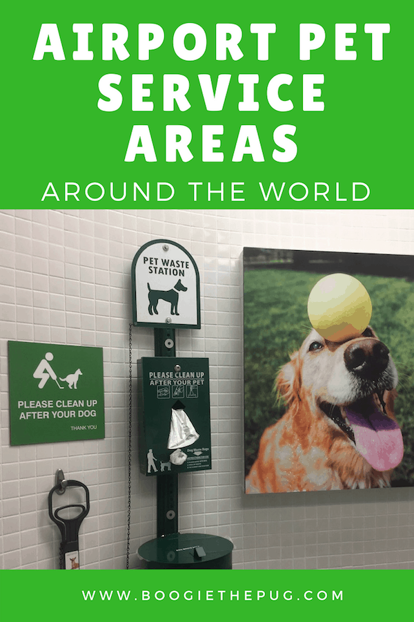 It's the law that airports that service more than 10,000 passengers per year must provide a pet relief area. Here are the airport pet service areas we've encountered, and where, so you'll know what to expect when flying.