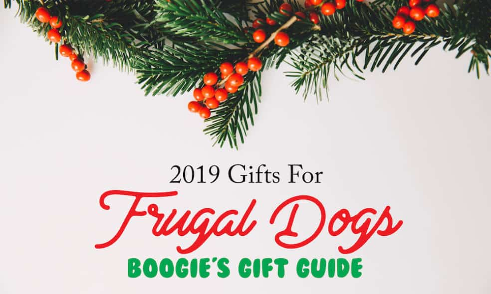 Broke dogs can enjoy the holidays too, with this frugal dog gift guide! Here are holiday items that won't break the bank - they all cost $10 or less.