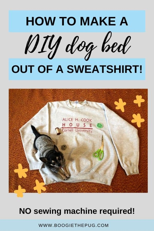 Breathe new life into your old sweatshirt by turning it into a pet bed! This is a quick and easy project that you can do at home.