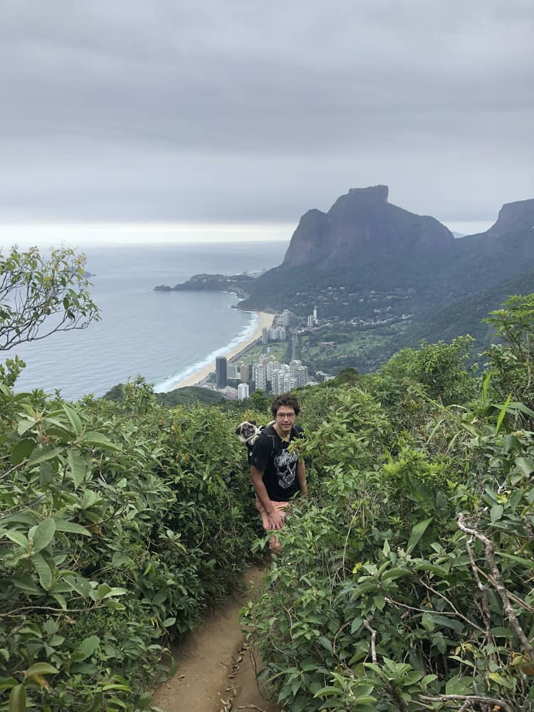 A view from the hike up Dois Irmãos