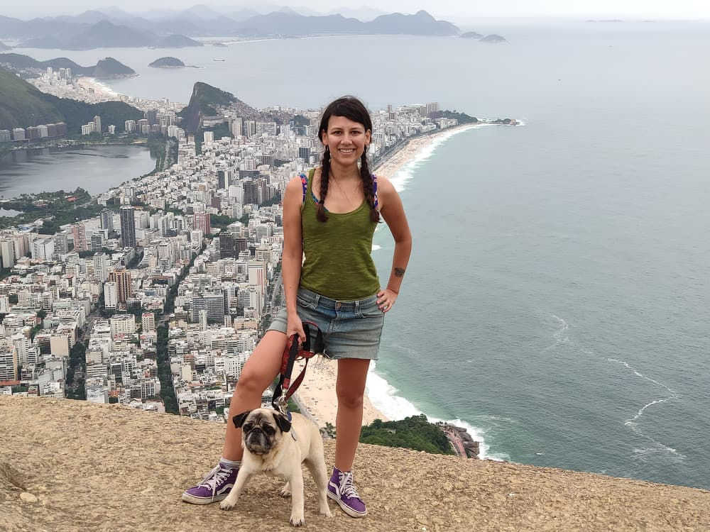 Epic views at the top of Dois Irmãos