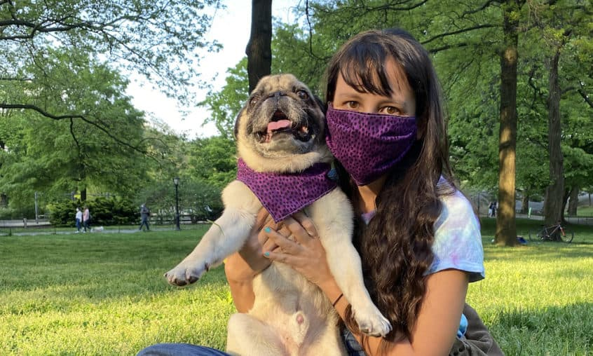 Learn how to make a dog bandana and matching face mask. It's an easy way to protect yourself and look good at the same time.