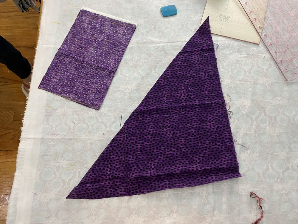 A triangular piece of fabric.