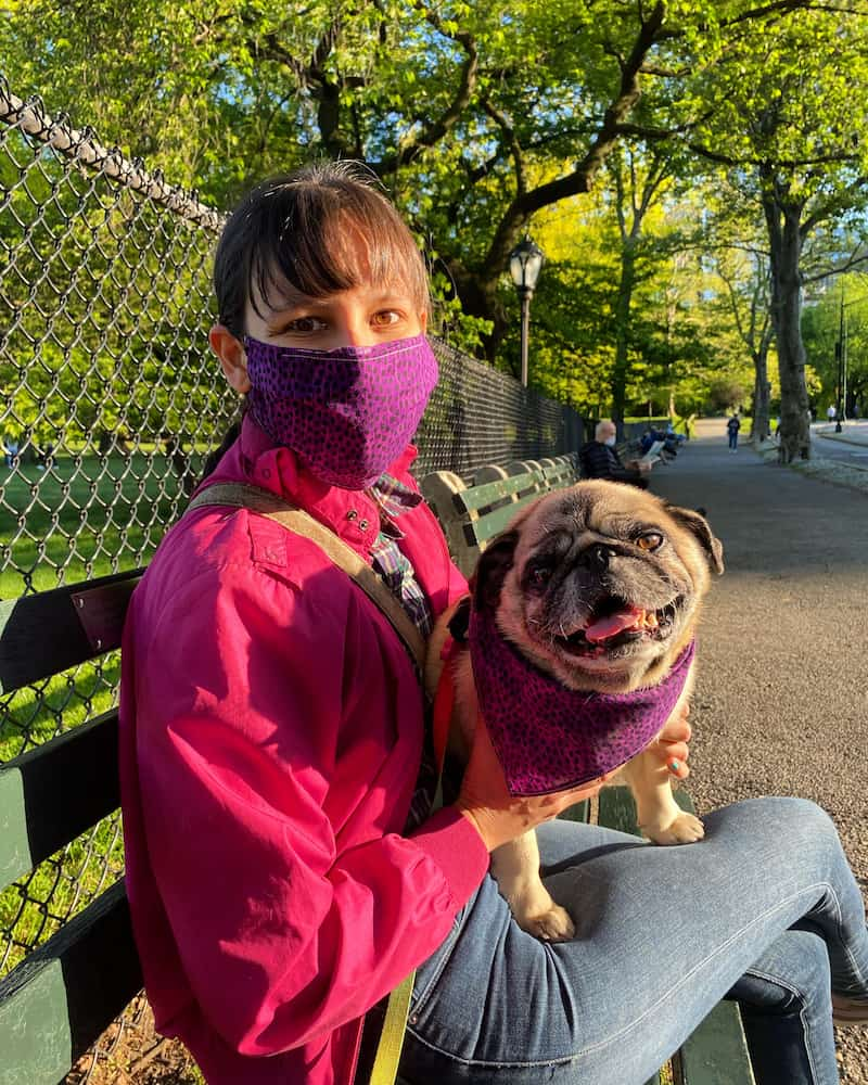 #Twinning with Boogie in Central Park.